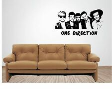 ONE DIRECTION vinyl wall art QUOTE sticker music singer musical 1D