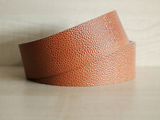 ORANGE TAN EMBOSSED LEATHER BELT & STRAP BLANKS, VARIOUS WIDTHS, 2.5 mm THICK