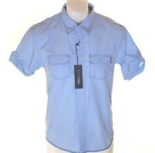 Bnwt Men's Authentic Peter Werth Short Sleeve Shirt RRP£40 Small New Blue
