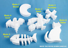 Styropor Hexe Halloween 250mm Deko Design 3D Namen Buch