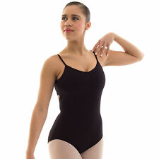 Capezio V-Neck Camisole Ballet Dance Leotard Cotton Lycra Ladies Adults CC102