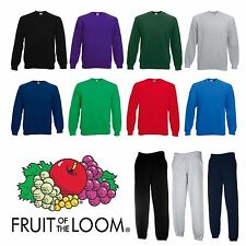TUTA UOMO COTONE FELPA GIROCOLLO E PANTALONI CON ELASTICO FRUIT OF THE LOOM