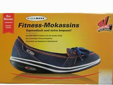 WalkMaxx Fitness Ballerinas blau 37 38 39 40 41 42 Po Rücken Mokassins Slipper