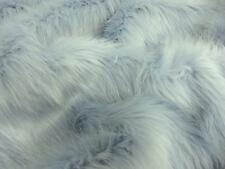 Super Luxury Faux Fur Fabric Material - LONG PILE POWDER PALE BLUE