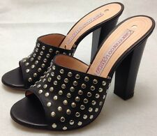 Gianmarco Lorenzi couture Donna Sandalo Black heels with studs on. RRP £405.