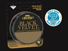 BERKLEY BLACK VELVET WHIPLASH DYNEMA TRECCIATO M.110 DIAM. MM. DA 0,08  A 0,30
