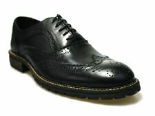 Red Tape Barrow Black Leather Mens Brogues Classic Style Formal Shoes Lace Up