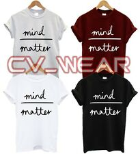 MIND OVER MATTER T SHIRT DOPE SWAG HIPSTER FASHION TUMBLR TREND FUNNY UNISEX