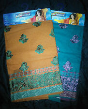 Pure cotton salwar/churidar material with floral embroidery design