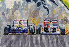 Mansell & Senna Spain 1991 Formula One counted cross stitch kit/chart 14s