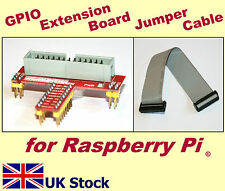 Raspberry Pi GPIO Extension Board Shield / 26-pin IDC Jumper ribbon cable  -  UK