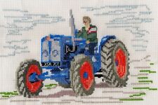 Fordson Major Tractor counted cross stitch kit or chart 14s aida