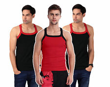 ZIMFIT Gym Vest - Combo of 3 - ( 2 Black + 1 Red)