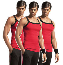 ZIMFIT Gym Vest - Combo of 3 - Red