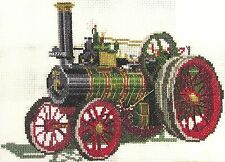 Foden Traction Engine counted cross stitch kit/chart 14s aida