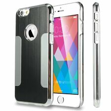 Luxury Steel Aluminum WD W/Chrome Snapon Hard Cover Case for iPhone 6 4.7
