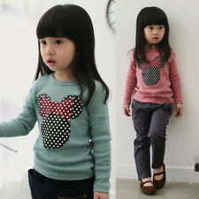 Cute Girls Minnie Mouse Top - 3-8 Yrs - UK SELLER