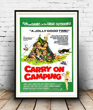 Carry On Camping , vintage Movie  advertising poster reproduction