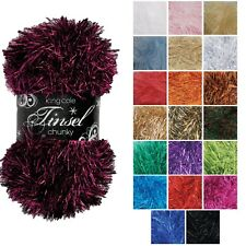 TINSEL CHUNKY Knitting Yarn by King Cole  * Eyelash Wool * Many Colours * 50g