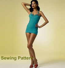 Butterick B6067 PATTERN by Gertie - Misses Swimsuit - Size 6 -  22 - New