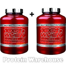 2 x 5lb Scitec Nutrition 100% Whey Protein Professional 2350g Fast Free P&P