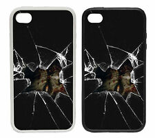 Broken Glass Zombie - Rubber and Plastic Phone Cover Case