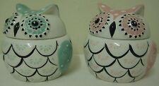 OWL TRINKET POT - FOLK OWL BY SASS & BELLE IN TEAL OR PINK - LOVELY GIFT