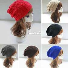 Women Winter Warm Knit Crochet Skull Ski Cap Baggy Beanie Hat Slouchy ETDS
