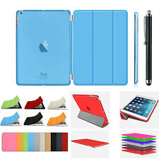 Smart Magnetic Stand Leather Case+Hard Back Cover For APPLE iPad 4/3/2 Air Mini