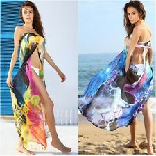 Floral Print Sarong Beach Wear Cover- up  Holiday Summer  Wrap around One Size