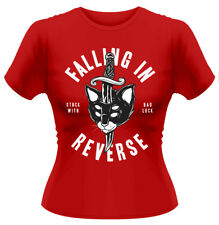 Falling In Reverse 'Dagger Cat' Womens Fitted T-Shirt - NEW & OFFICIAL!