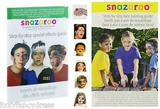 Snazaroo Step-By-Step Face Painting Guide Booklet Special Effects Tips Make Up