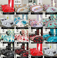 New Duvet Cover with Pillow Cases / Duvet Sets Single Double King Homedecore