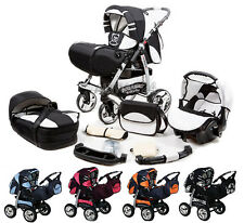 Baby Pram Buggy Pushchair Stroller SPEED PLUS  Swivel wheels  3in1 Car Seat