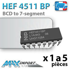 1 à 5 x HEF4511/CD4511 - BCD to 7 segment latch/decoder/driver