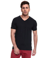 IZINC Navy V-Neck Neck Half Sleeves T-Shirt