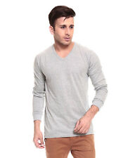 IZINC Grey V-Neck Neck Full Sleeves T-Shirt