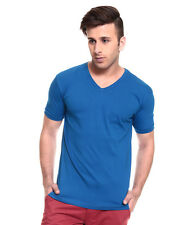 IZINC Blue V-Neck Neck Half Sleeves T-Shirt