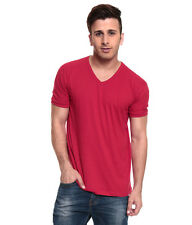 IZINC Red V-Neck Neck Half Sleeves T-Shirt