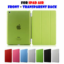 SMART MAGNETIC FRONT + TRANSPARENT BACK COVER CASE FOR APPLE IPAD AIR IPad 5