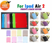 SMART MAGNETIC FRONT + TRANSPARENT BACK COVER CASE FOR APPLE IPAD AIR 2 IPad 6