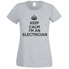 KEEP CALM I'M AN ELECTRICIAN - Electrics / Sparky / Funny Themed Womens T-Shirt