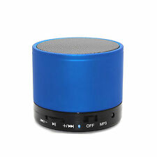 BLUE BLUETOOTH WIRELESS PORTABLE FM RADIO SPEAKER FOR VARIOUS MOBILE PHONES