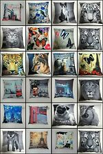 LUXURY ANIMAL PRINTED PHOTO CUSHIONS COVERS SOFA BED CUSHION COVERS