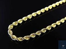Mens/ Ladies Bonded 1/10th 10K Yellow Gold 2MM Solid Rope Chain Necklace 16-24in