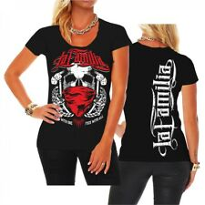 Girls T-Shirt La Familia Fuck with one crime criminal Oldschool Mafia Fashion Ga