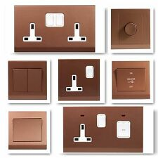 Simplicity Screwless Bronze Range Light Switches, Plug Sockets, TV, Cooker, Fuse