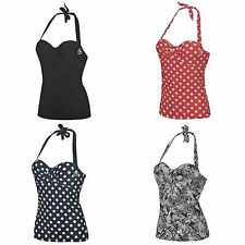 Ladies Hot Tuna Swimming Tankini Swim Top Swimsuit Swimmers~8 10 12 14 16 18 20