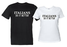 Maglietta Italians Do It Better T-Shirt Uomo Donna Vintage Madonna Pop Anni '80