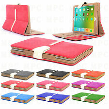New Luxury Genuine GT Suede Leather Smart Flip Wallet Case Cover  for iPad 4 3 2